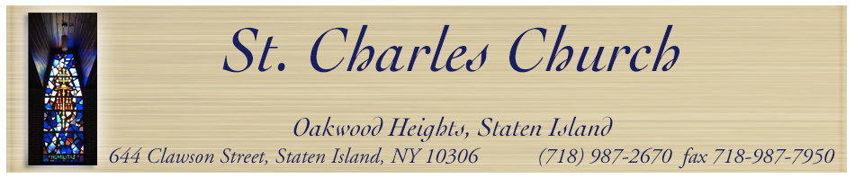Parish Bulletins – Saint Charles SI